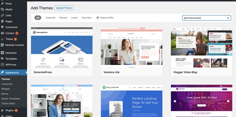 choose a wordpress theme to get started on your blog